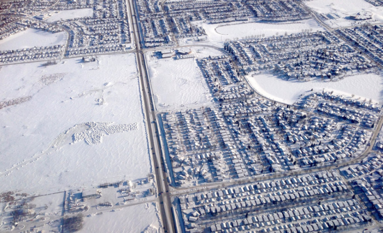 Winnipeg in winter, under a blanket of snow