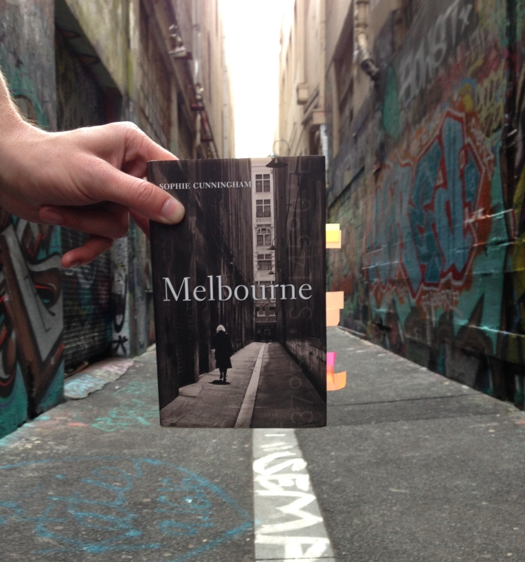 Melbourne travel book in Melbourne Laneway