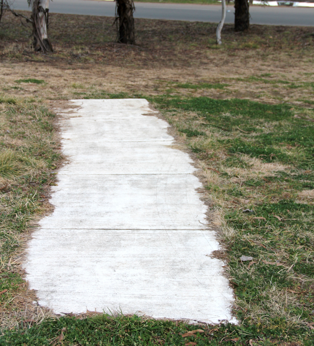 Sidewalk to nowhere, Canberra, Australia
