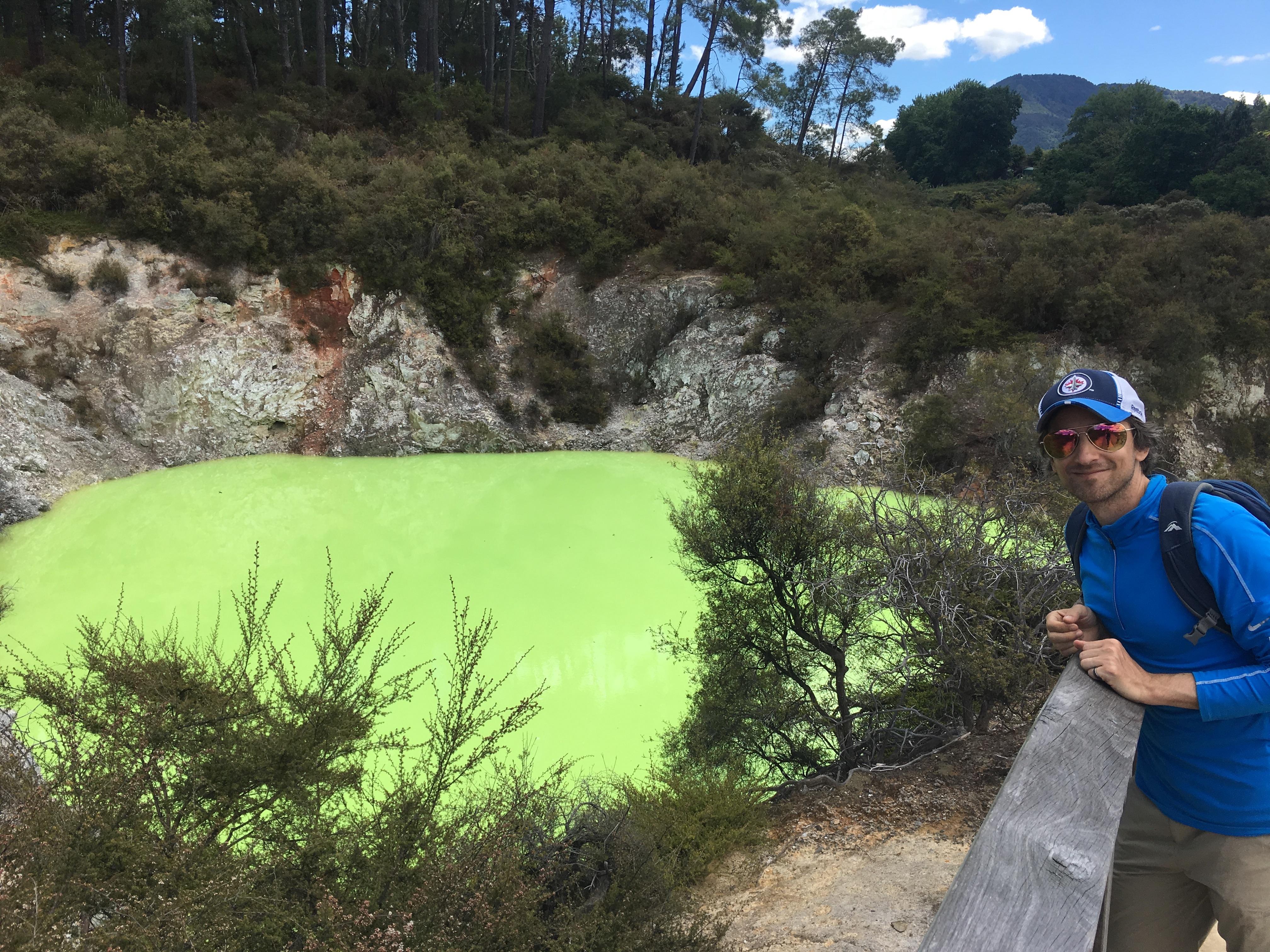 traveling with chronic illness, Wait-O-Tapu New Zealand