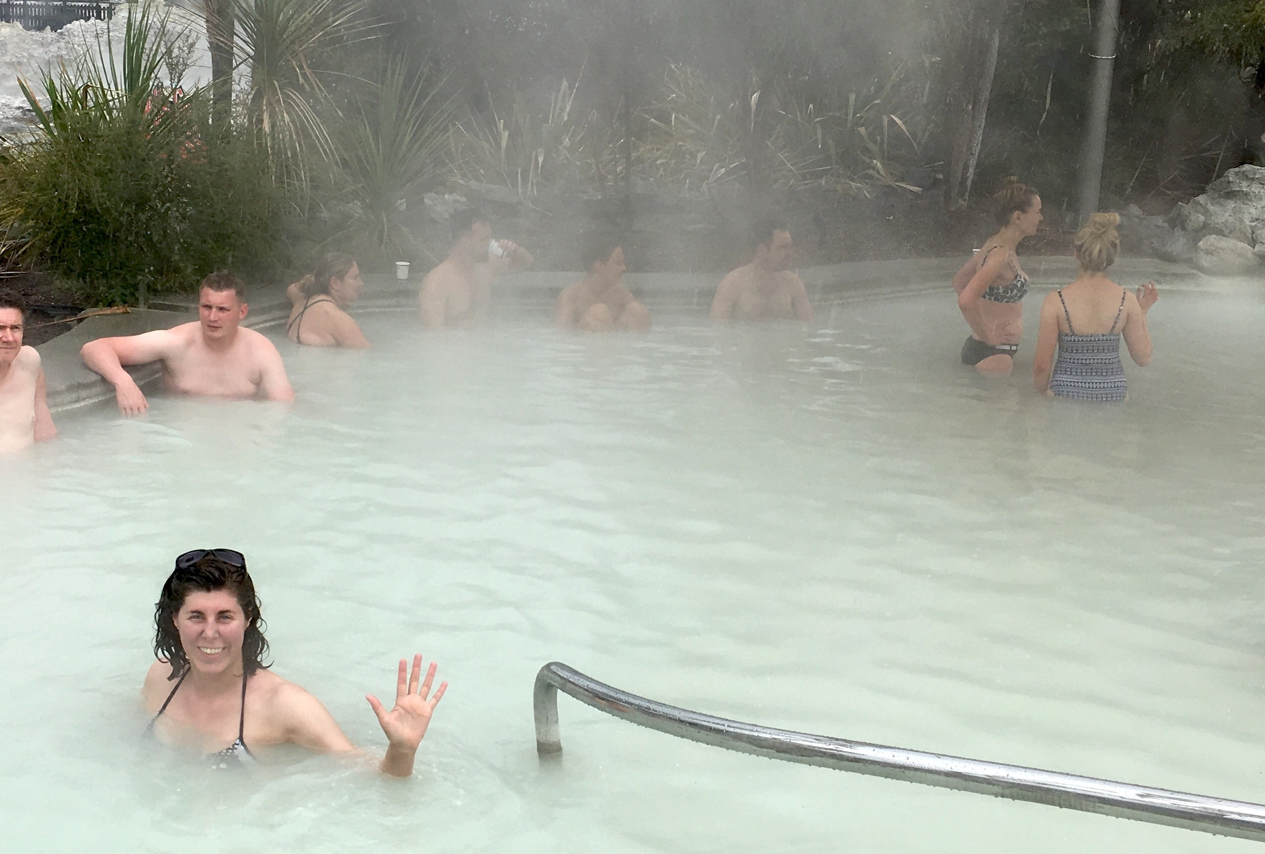 Traveling with chronic illness, hot springs in New Zealand, sulpgur