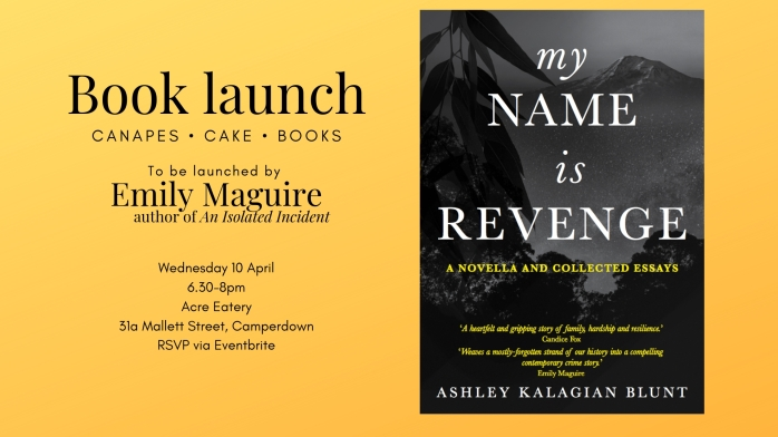 Book launch of My Name Is Revenge, writing on the Armenian Genocide