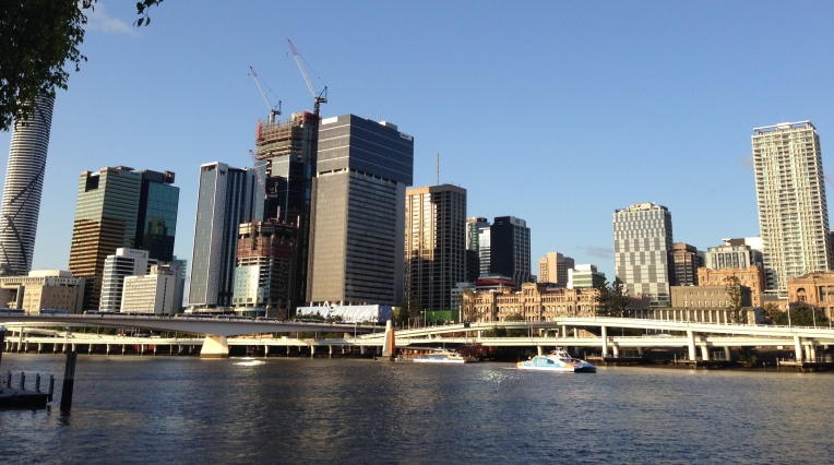 Brisbane skyline travel photo by Ashley Kalagian Blunt