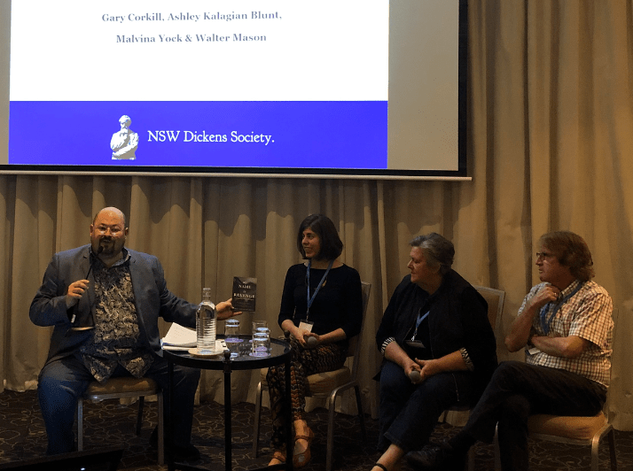 Literary conference panel from NSW Dickens Society