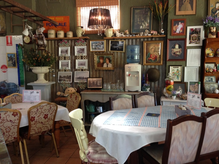 Inside The Williams River Cafe in Clarence Town, Australia