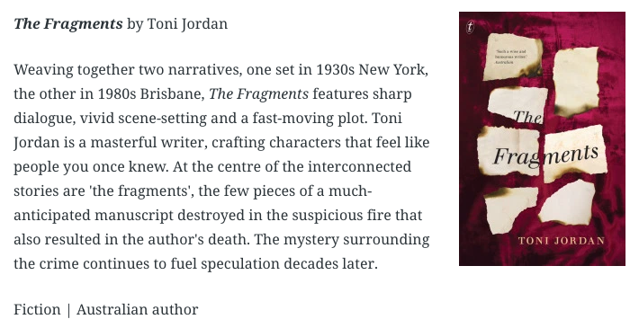 Author Toni Jordan cover