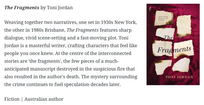 Author Toni Jordan cover