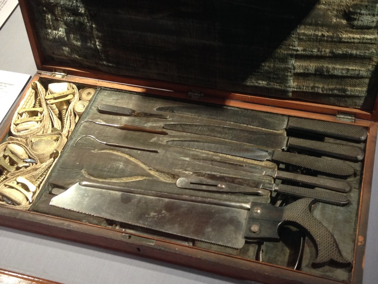 Historic medical surgery tools