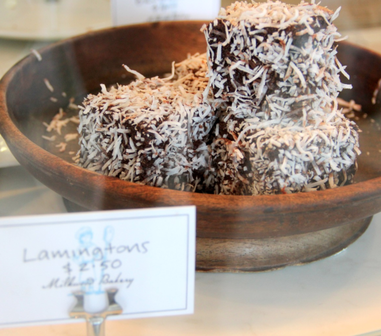 Bowl of lamingtons