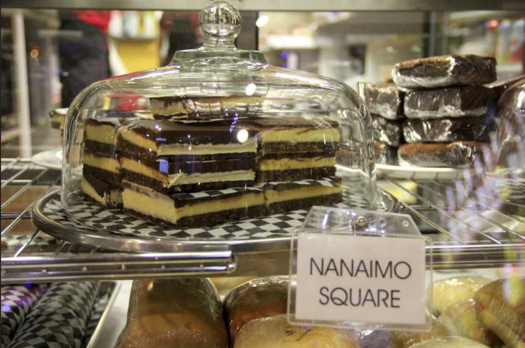 Stacks of Nanaimo bars